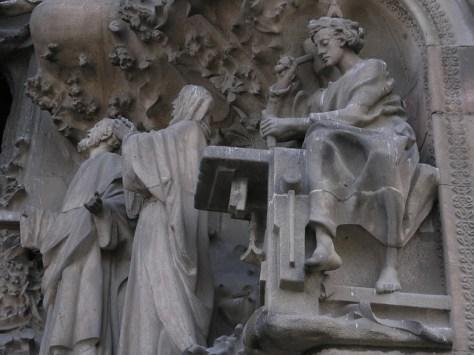 Barcelona Sagrada Familia facade detail2