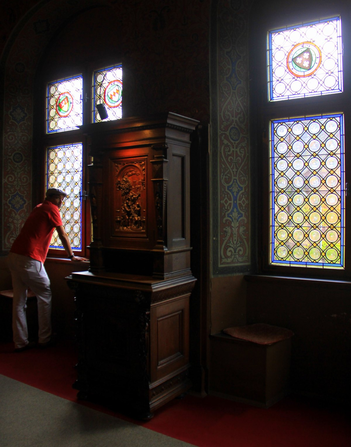 Beautiful interiors of the Cochem castle