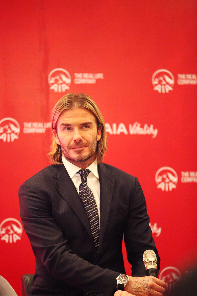 David Beckham di Sidang Media AIA Healthy Living Tour Malaysia