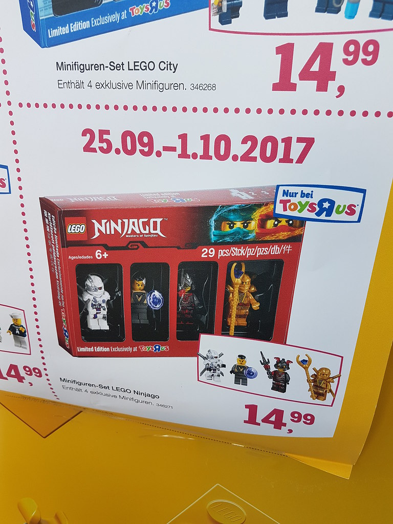 Exclusive Ninjago minifigures at Toys'R'Us