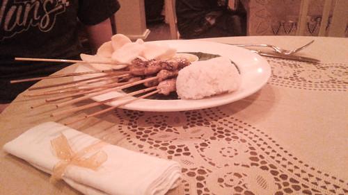Rice and kebab