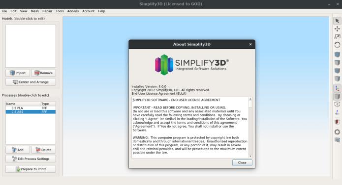 Simplify3D 4.0 x86 x64 full license