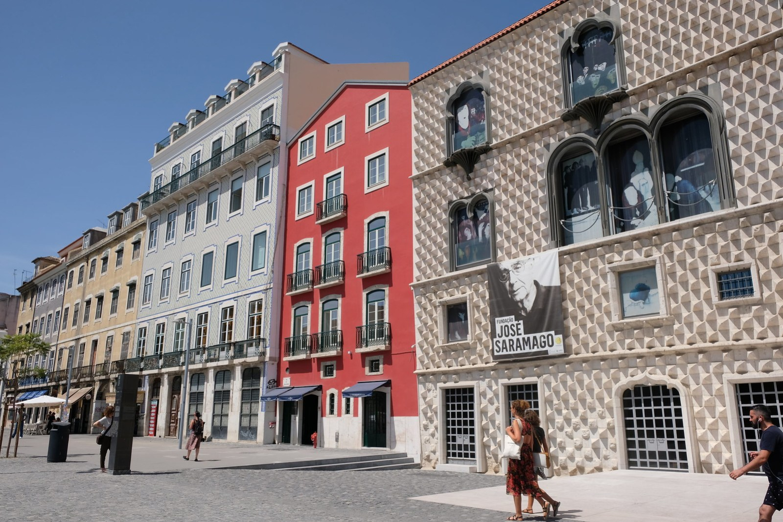 Some of the cool buildings on the way out of Alfama