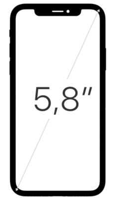 20170912 iPhone X taille écran