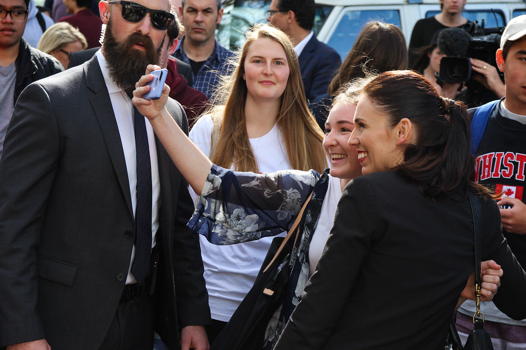 Jacinda Ardern at the University of Auckland