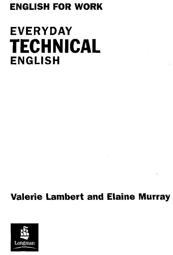 Everyday Technical English books