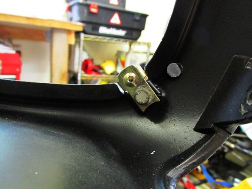 Top Front Headlight Panel-Clip for Attaching Headlight Cover Installed