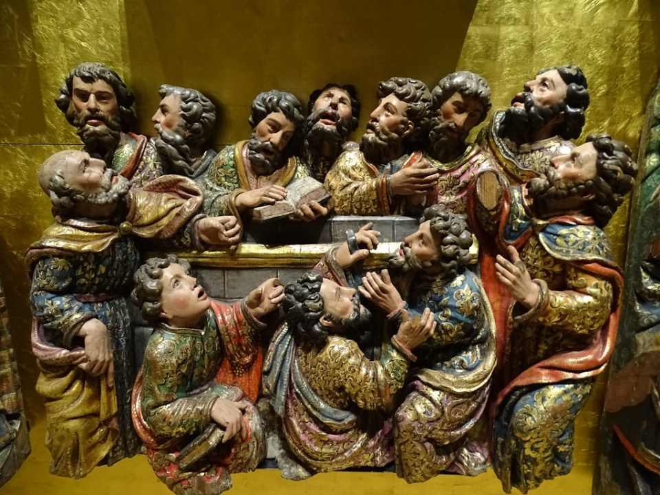 Segovia Museo Provincial Retablo de la Vida de Jesus Siglo XVI madera policromada de la desaparecida Iglesia de Santa Columba Autor Lucas Giraldo 03