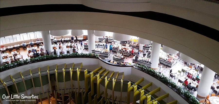 Atrium Restaurant (pic taken from inside the lift)