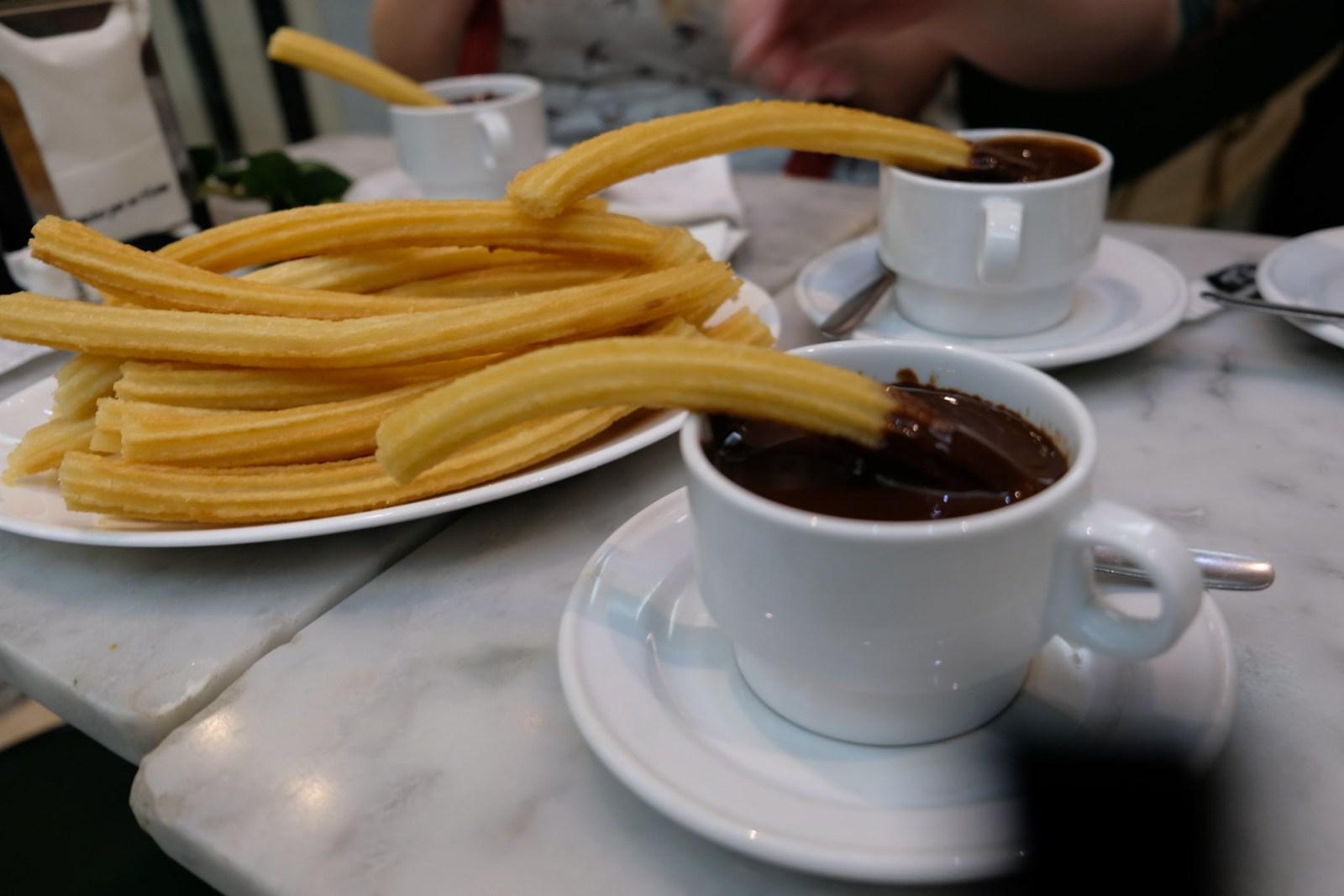 Churros at Chocolateria San Gines