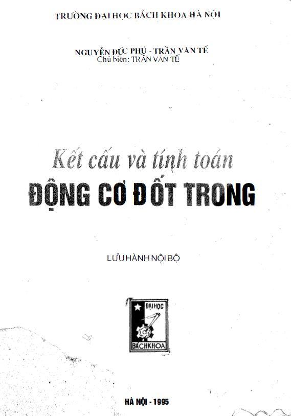 Bìa Kết cấu và tính toán động cơ đốt trong - Trần Văn Tế