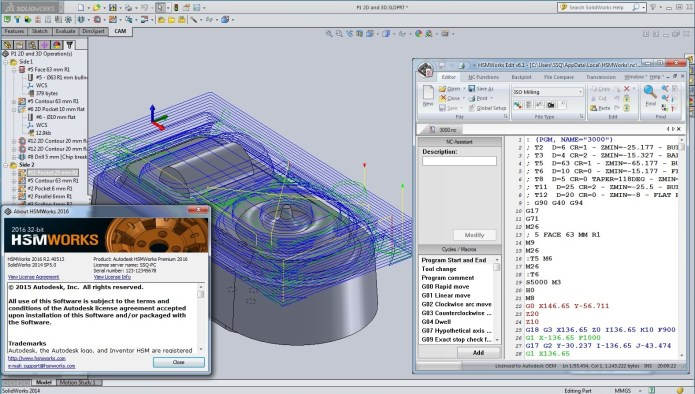 Lập trình gia công với phần mềm Autodesk HSMWorks 2016 full crack