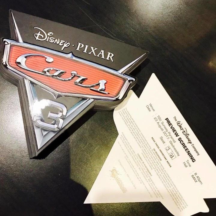 Peraduan Menonton Filem DISNEY'S €� PIXAR'S CARS 3