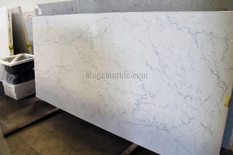 White Attica Caesarstone Quartz Countertops Slab 2