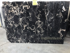 Noir St. Laurent 2cm marble slabs for countertops