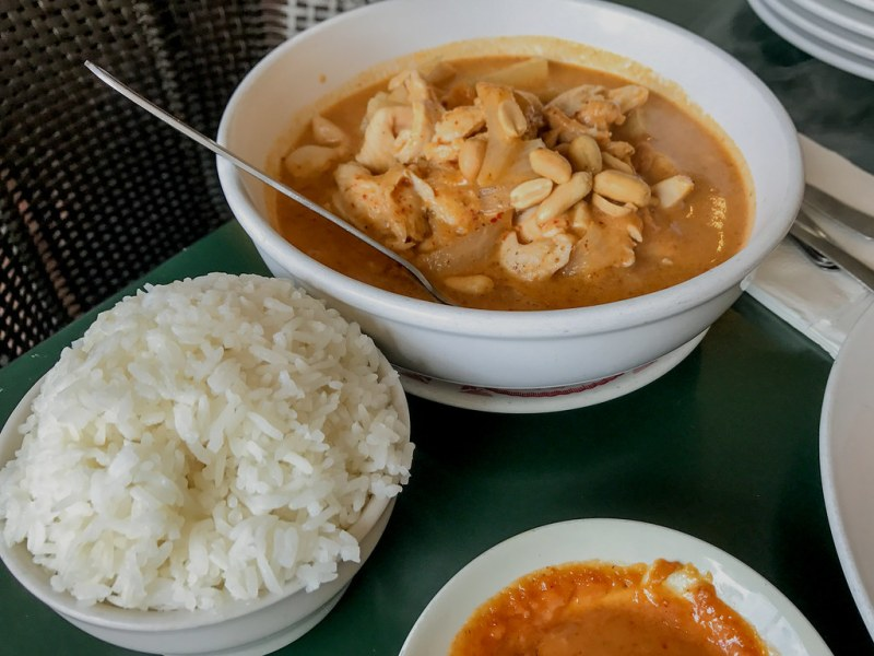 Masamun Chicken Curry, Coconut Milk, Onion, Potato, Peanuts ($10.95)