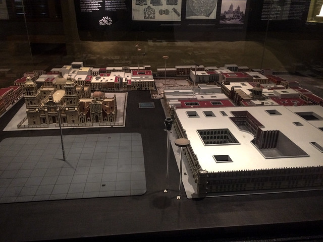 Model of Zocala Square and Templo Mayor