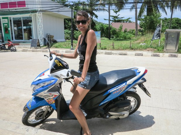 Alquilar moto en Koh Phangan