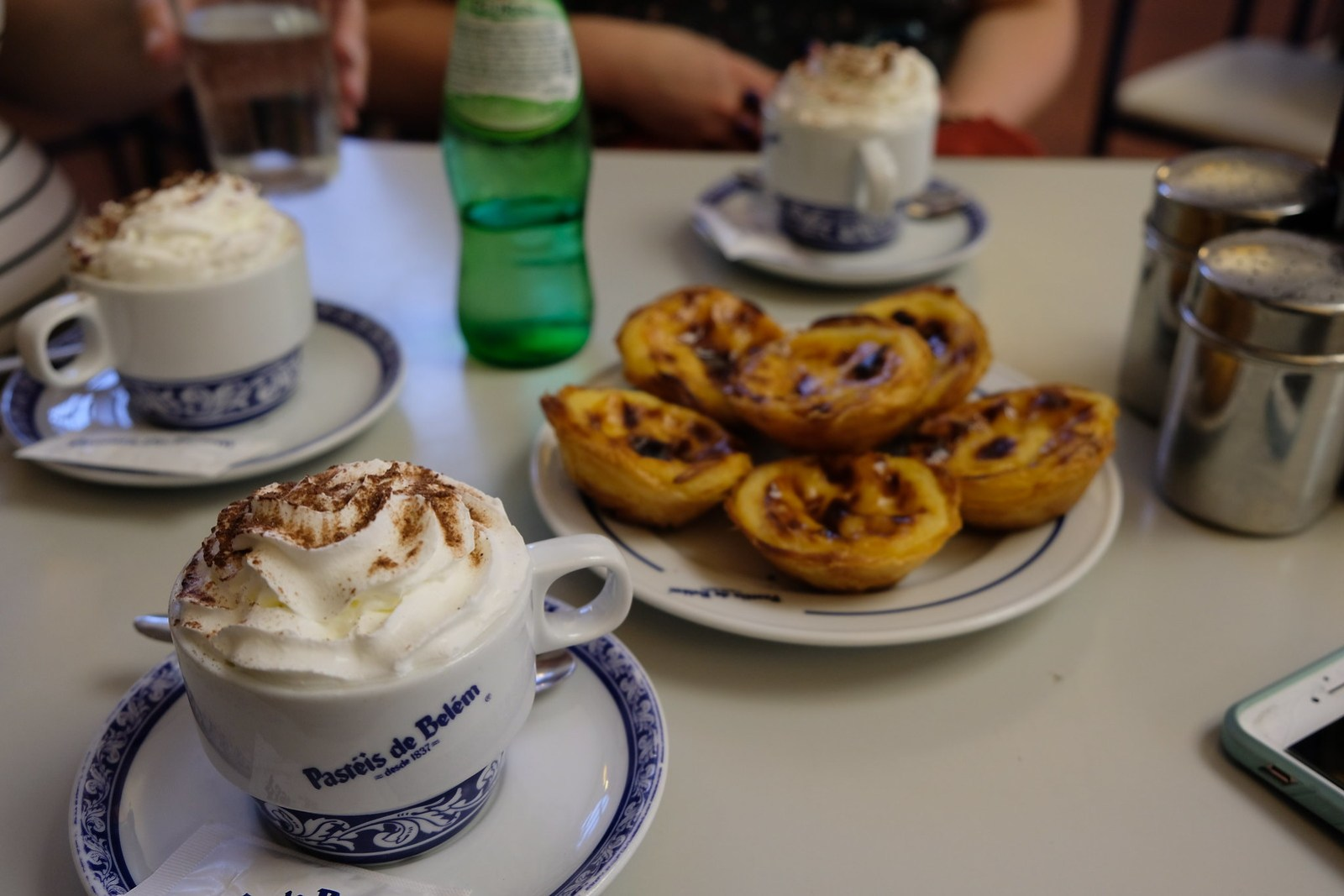 Famous Belem Pastries and Delicious Coffee with Fresh Cream