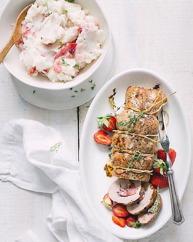 Summer Recipe Strawberry Stuffed Pork Loin
