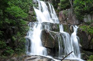 Katahdin Stream Falls on the Hunt Trail; also the Appalachian Trail
