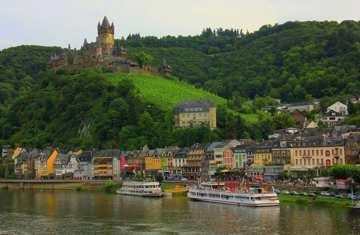 The Moselle Valley is popular tourist destination