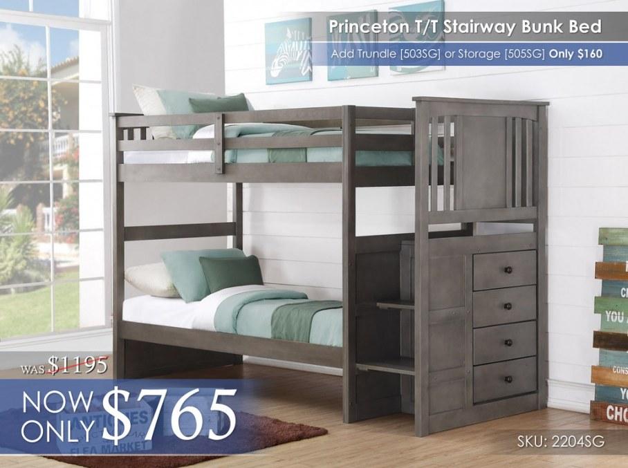 Princeton Stairway TT Bunk Bed 2204-TTSG