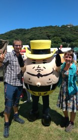 The eggman mascot in Matsuyama