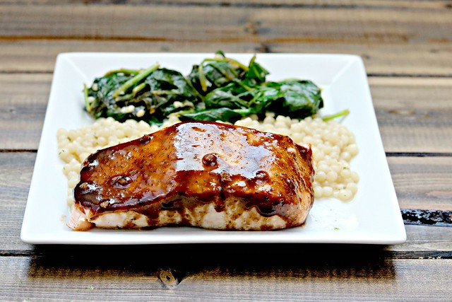 Balsamic Honey Dijon Salmon top