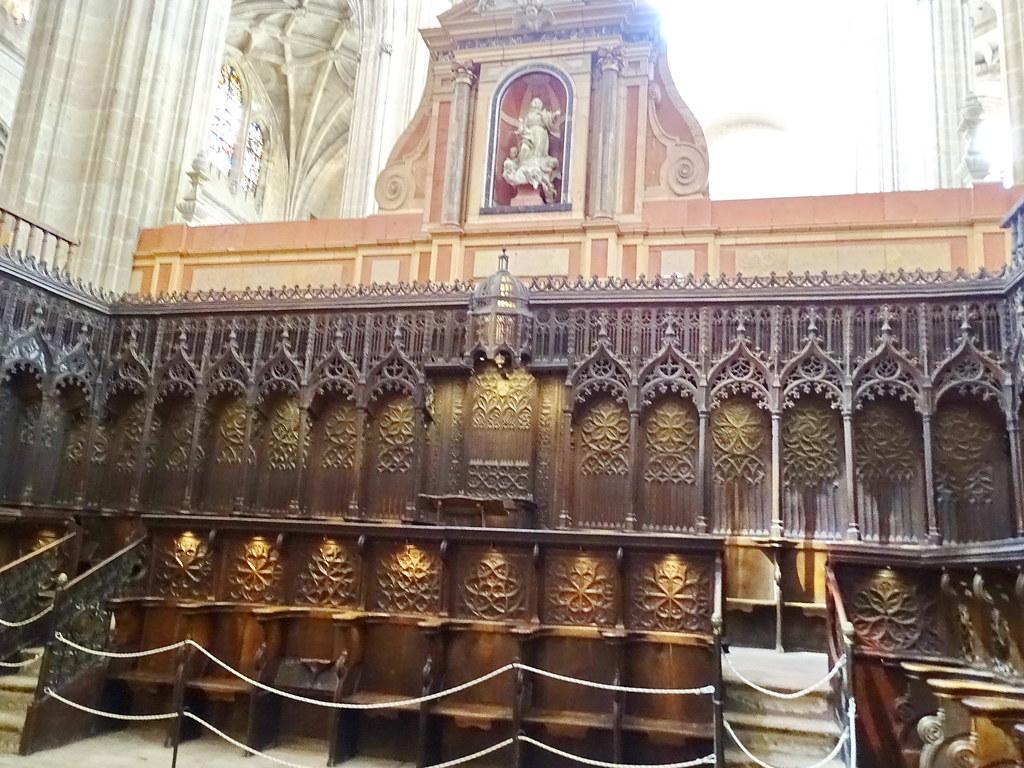 Segovia coro interior la Catedral de Nuestra Señora de la Asuncion y de San Frutos 11