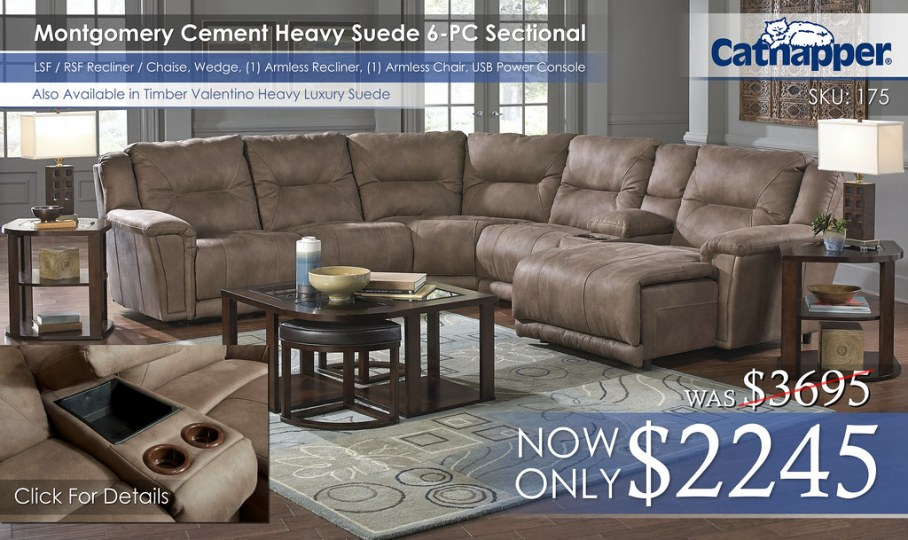 Montgomery 6PC Sectional 175_Chaise