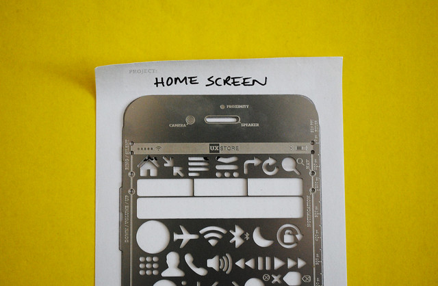 The UX Store's iPhone stencil in action