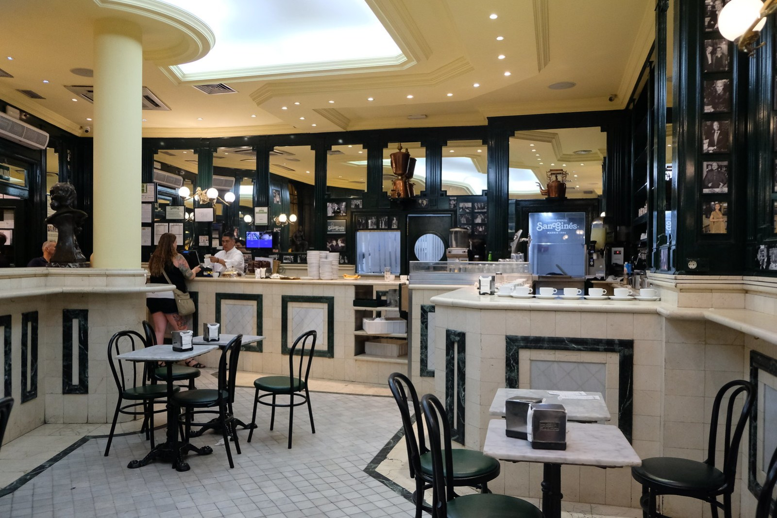 Inside Chocolateria San Gines