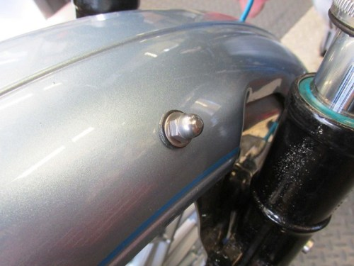 Front Fender Acorn Nut Installed