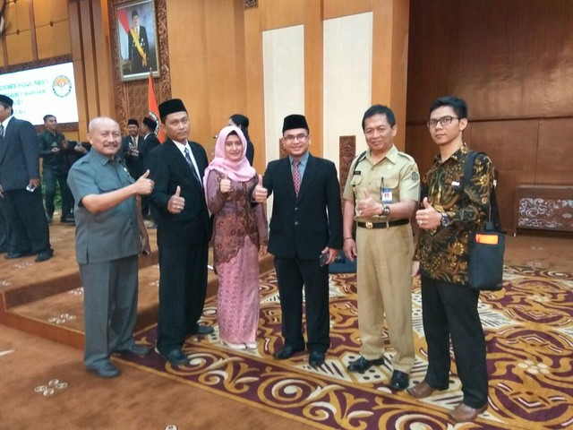 Panwaslih Kab.Tulungagung setelah dilantik di Gedung Grahadi Surabaya (28/8)