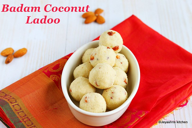 Coconut Badam ladoo