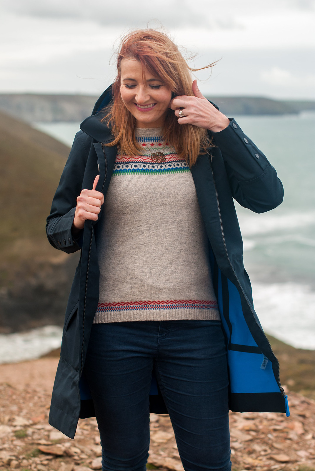 an autumn outfit for walking in poldark country
