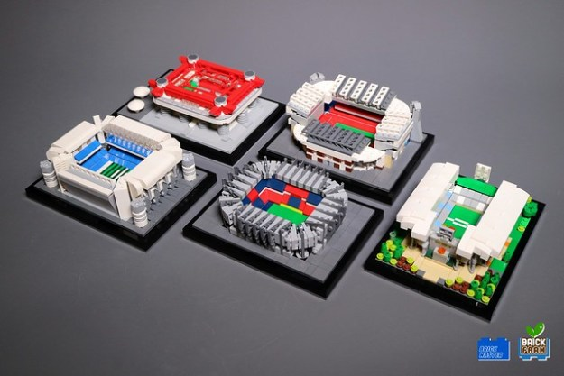 David Beckham receives a set of LEGO Stadiums for teams he's played ...