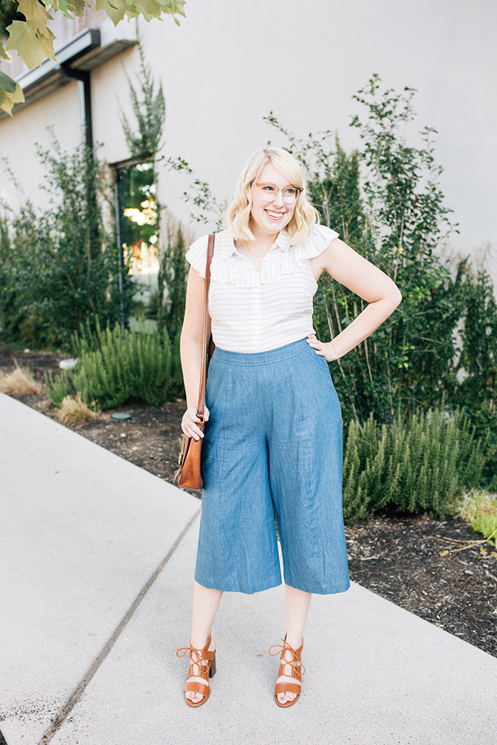 austin fashion blog writes like a girl modcloth chambray culottes13