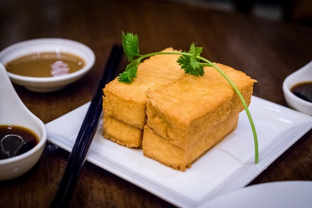 golden crispy tofu