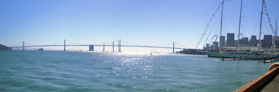 Puente de la Bahia Oakland Bay Bridge San Francisco California EEUU 04 panoramica