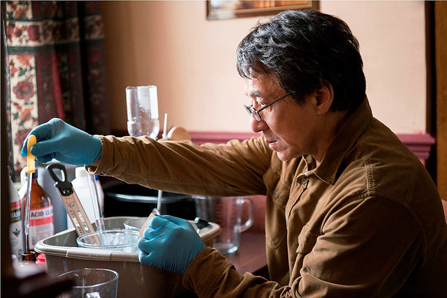 Jackie Chan as Quan at the Belfast Guest House in THE FOREIGNER
