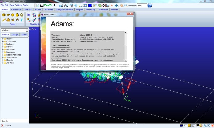 Working with MSC Adams 2015.1 win64 full license