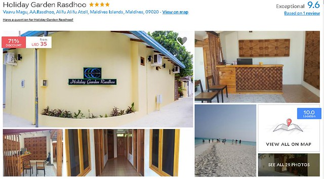 Holiday Garden Rasdhoo - Maldives Cheap Accommodation