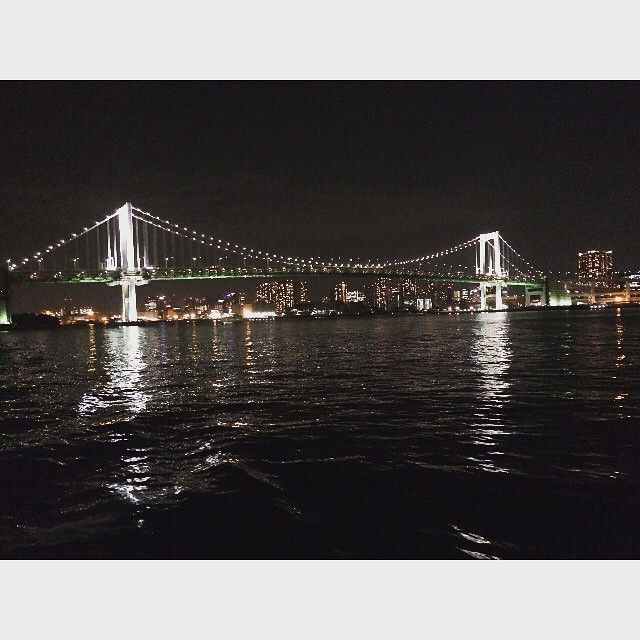 Night scenery of Tokyo bay. #nightcruise #cruise #tokyobay #waterfront #ship #cruising #nightview