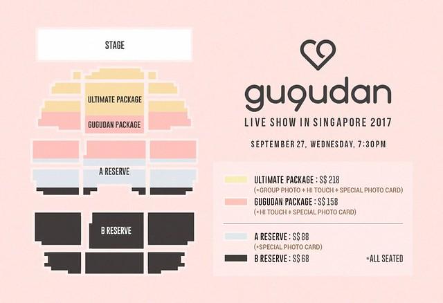 GU9UDAN Live Show in Singapore 2017 Seating Plan