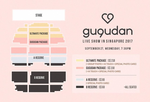 GU9UDAN Live Show in Singapore 2017 Seating Plan