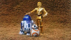 The famous Star Wars droid trio