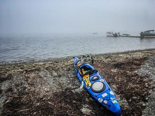 Samish Island Paddling in Fog-50