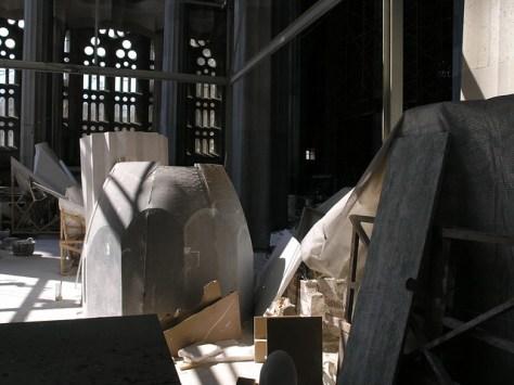 Barcelona Sagrada Familia building materials